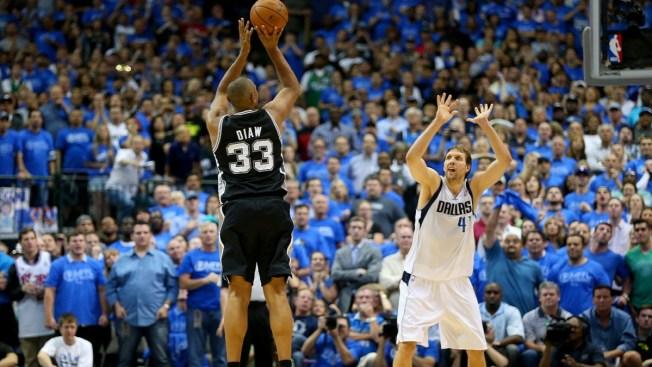 Series Even as Spurs Beat Mavs 93-89