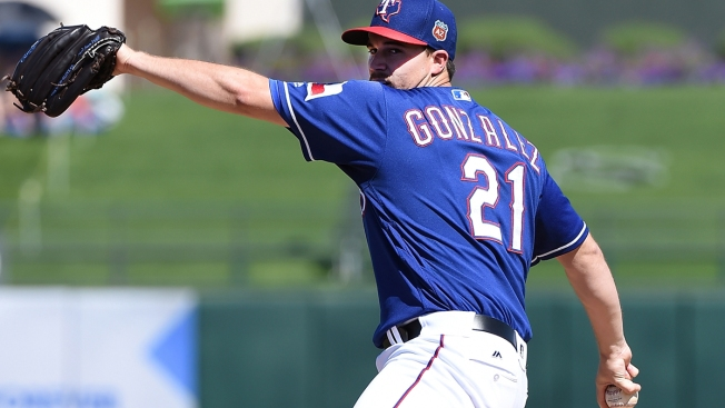 Gonzalez Solid Outing, Rangers Hit 5 Homers to Top Reds 12-5