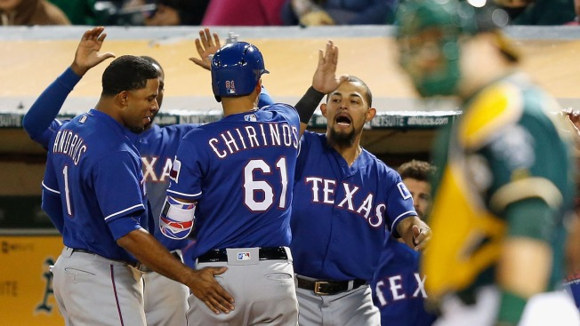 Gray Gives Up 5-Run Lead, Athletics Lose 7-5 to Rangers