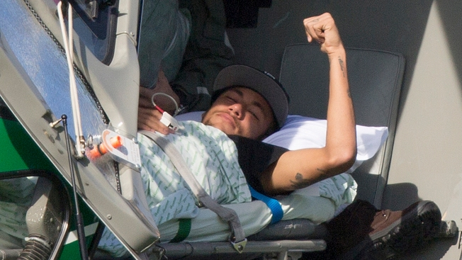 Neymar Airlifted From Brazil's Training Camp