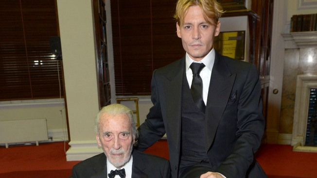 Depp Salutes Christopher Lee at London Festival