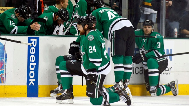 Stars Lost First Home Game Since Peverley's Collapse