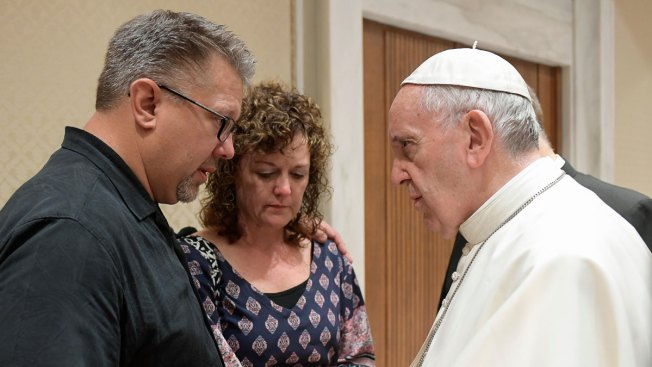 Pope Francis Meets Parents of Young Man Found Dead in River