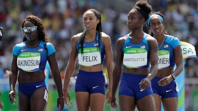 Controversy surrounds United States women's shocking relay baton drop