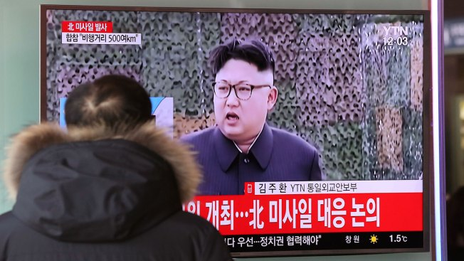 North Korea Test-Fires Missile, Challenging Trump
