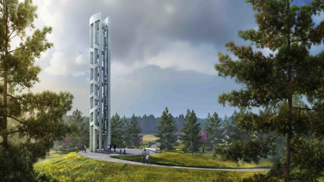 Work Begins on Wind Chime Tower at Flight 93 Memorial