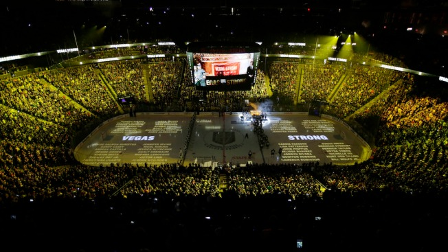 Vegas NHL Team Retires Jersey 58 to Honor Shooting Victims