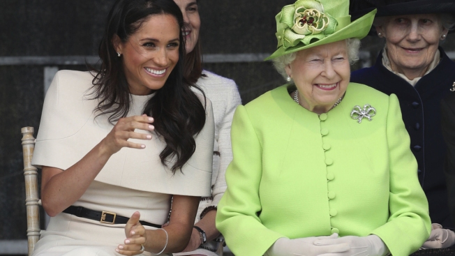 Duchess Meghan Makes First Joint Appearance With Queen Elizabeth