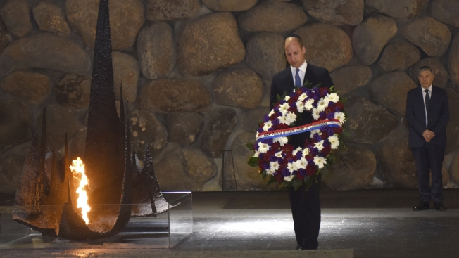 Prince William Visits Israel's Holocaust Memorial