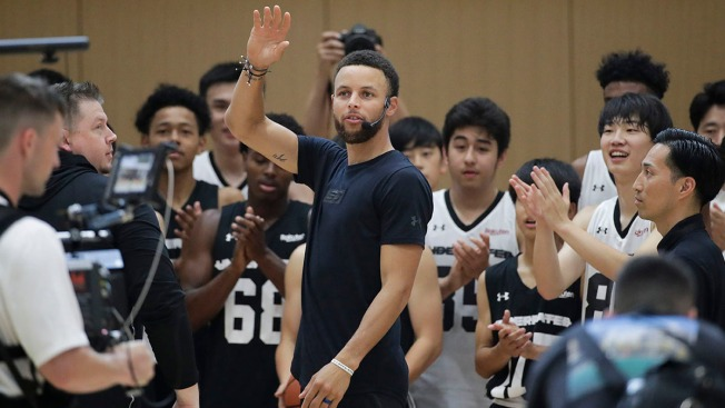 Steph Curry in Japan to Talk Tokyo Olympics, Rui Hachimura
