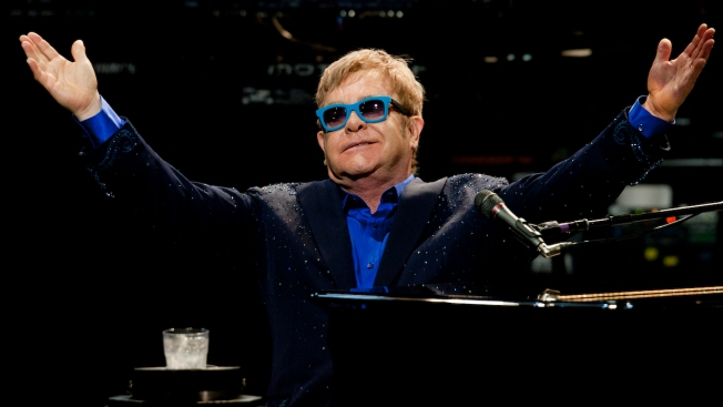 Elton John Performs Free Concert in Hollywood