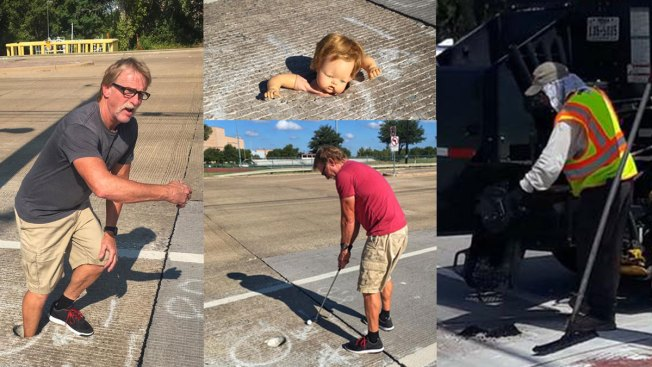 Man Takes to Social Media Over Hole in Crosswalk, City Fills Hole