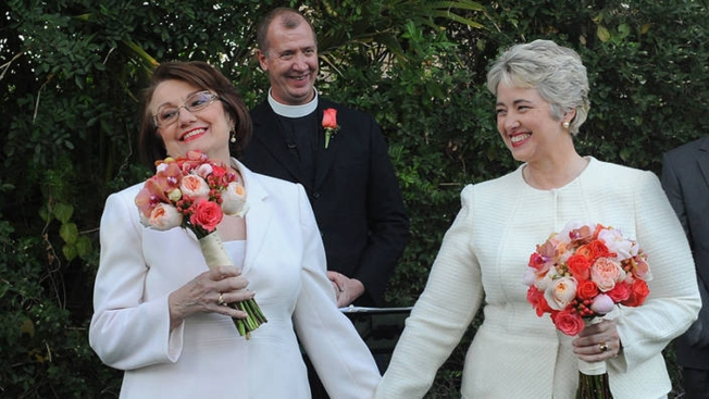 Houston Mayor Weds Longtime Partner in California
