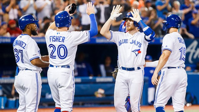 Drury Hits First Career Grand Slam, Jays Rout Rangers 19-4