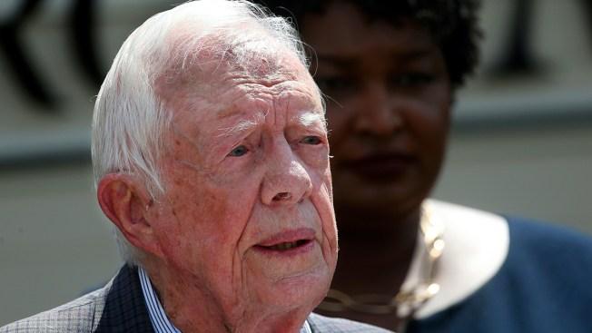 Jimmy Carter, After Hip Surgery, Back Teaching Sunday School