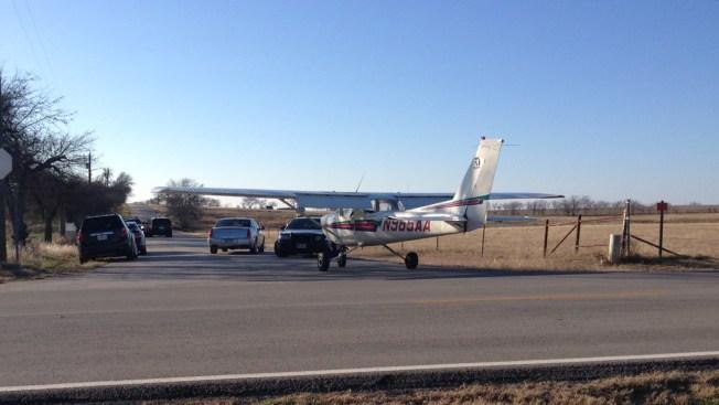 Airplane Makes Emergency Landing on Road in Sanger