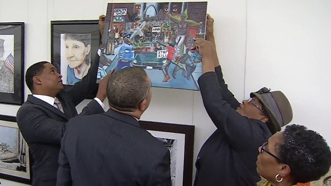 Artwork Depicting Pig as Police Officer Removed From Capitol Display