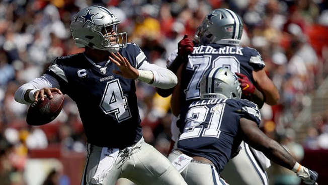 reputable site 5cd65 dc897 Dak Prescott Spreading the Wealth in Hot Start for Cowboys ...