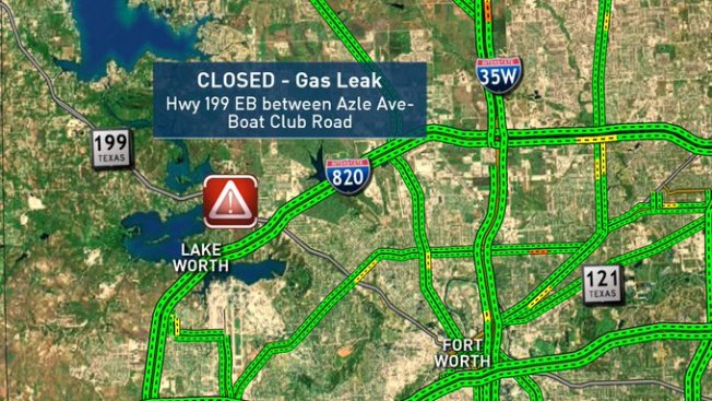 Gas Leak Closes EB State Highway 199 in Fort Worth