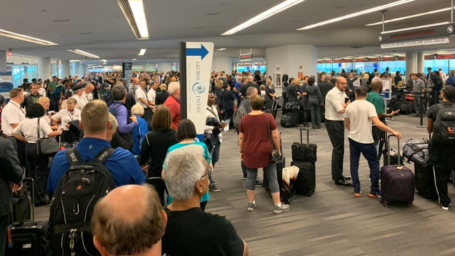 Long Lines at Airports After Customs System Goes Down