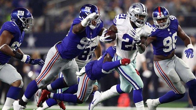 Elliott, Manning Take Center Stage in Cowboys-Giants Opener