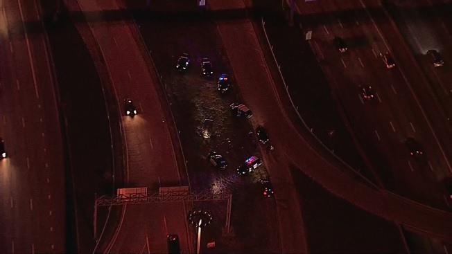 Grand Prairie Chase Ends in Rollover Crash in Dallas