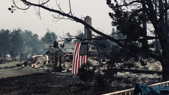 Uplifting Messages Shared on Social Media During Calamitous Wildfires