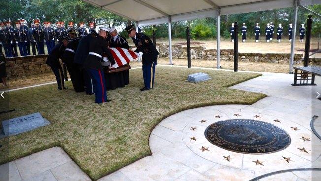 President George H W Bush Is Home For Texas Burial Nbc 5 Dallas