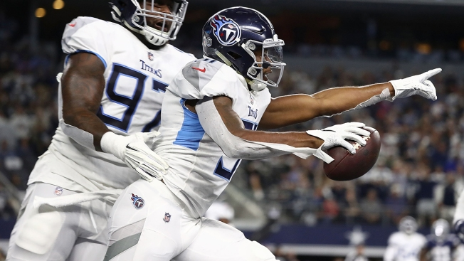 NFL Fines Titans Safety for Celebrating on Cowboys' Logo