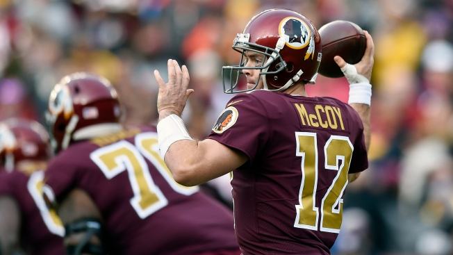 8fb1576de Colt McCoy to Start for Redskins Against Cowboys on Thanksgiving Day ...