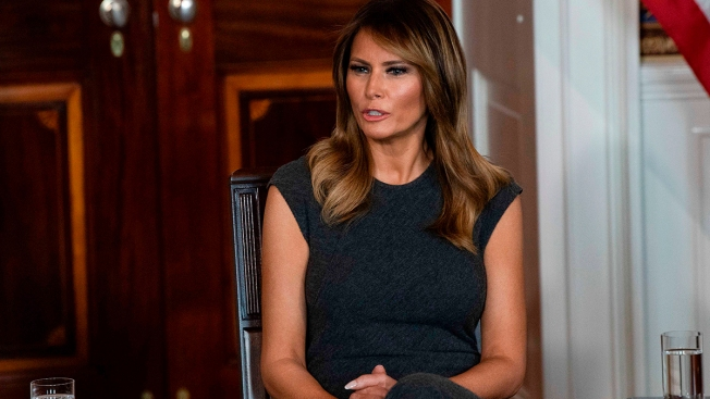First Lady Melania Trump Listens as Teens Share Experiences With Vaping