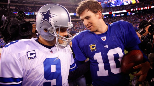 Longtime Rivals Romo, Manning Battle Sunday Night and Beyond