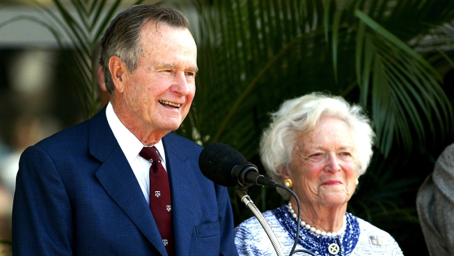 George HW Bush Breathing on His Own; Barbara May Be Discharged Soon