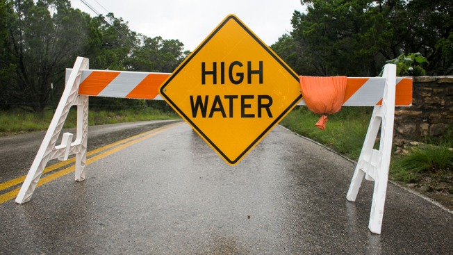 High Water Closes Several Roads in Denton County