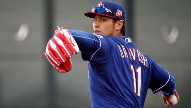 Darvish Mixing Up Pitches in Early Rehab Work