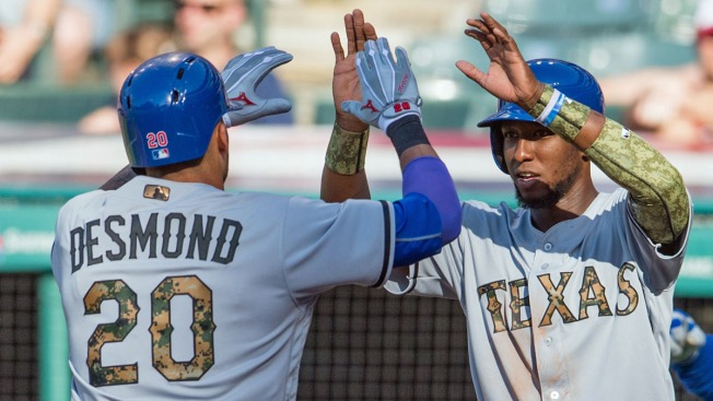 Mazara, Desmond Homer as Rangers Rout Indians 9-2