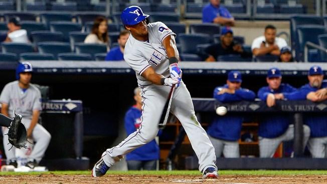 Rangers Outlast Rain, Yankees in 9-6 Win