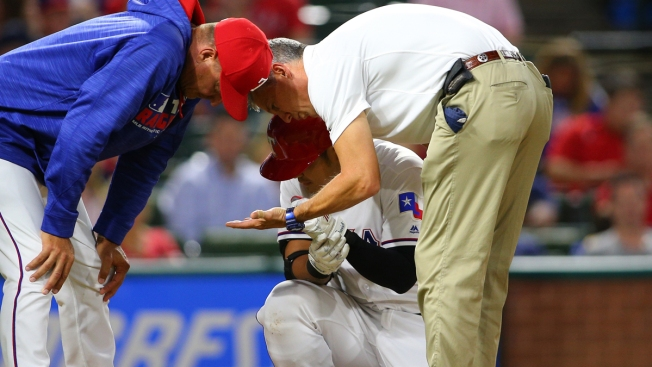 Rangers' Choo Breaks Arm After Hit By Pitch vs. Oakland