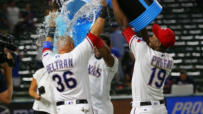 Rangers Score 3 Runs in 10th, Beat A's On Hit-By-Pitch