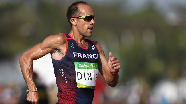 French Race Walker Yohann Diniz Finishes Race Despite Stomach Problems