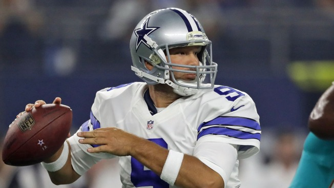 Romo, Prescott Lead Dallas Win; Dolphins Move with Tannehill