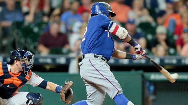 Odor's Homer in 12th Lifts Rangers Over Astros