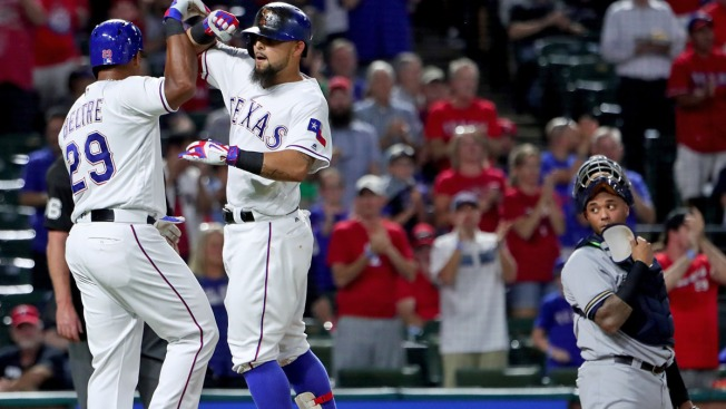 Gomez Homers in 8th, Rangers Rally Again to Beat Brewers
