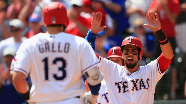 Gallo's Career-High 5 RBIs Back Perez as Rangers Top A's 8-1