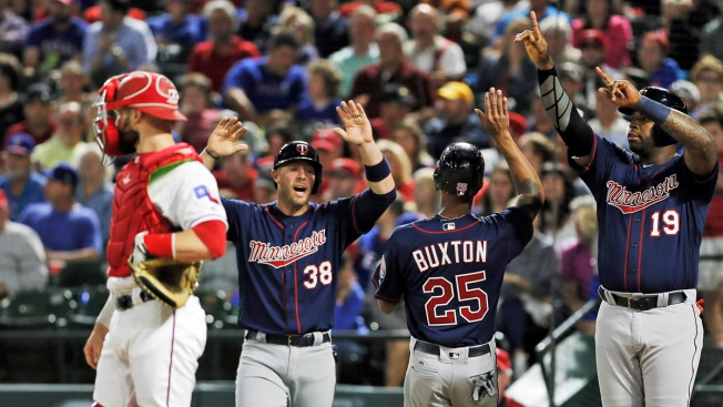 Dozier Base-Clearing Double Pushes Twins Past Rangers 3-2