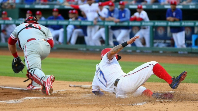 Cashner Finally Wins in Home State, Rangers Top Phillies 9-3
