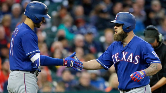 Rangers beat Tigers 5-3, extend winning streak to 10 games