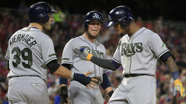 Rasmus, Beckman Big Swings for Rays in 10-8 Win Over Rangers