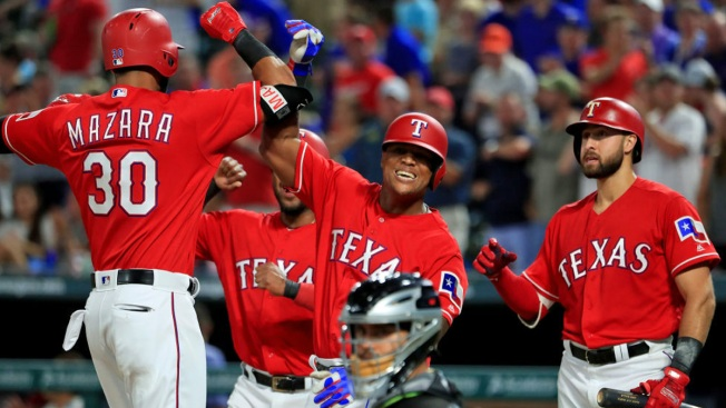 Mazara Homers, Drives in 5 as Rangers Top White Sox 9-8