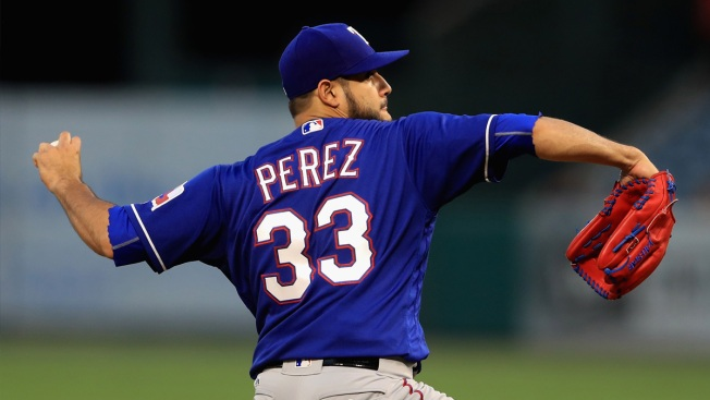 Rangers Beat Angels 3-0 Behind Strong Start By Perez